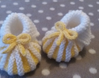Slippers white / yellow 0 / 3 months