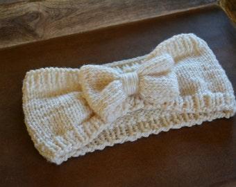 Knit Bow Headwrap Headband