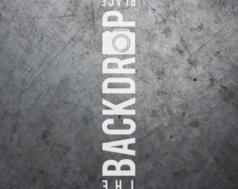 Large Photography Backdrop - Concrete - 5'x5', 5'x6', 5'x7', 5'x10'
