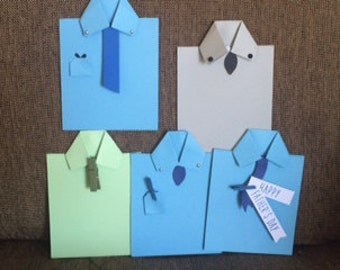 Shirts with Ties greeting cards 5 pack