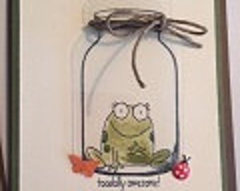 Toadaly Awesome Greeting Card