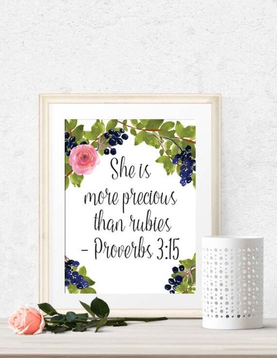 She Is More Precious Than Rubies Proverbs 3 15 Bible Verse