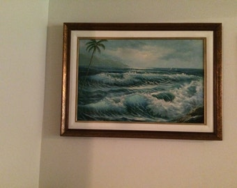 "Original Oil Painting signed by artist ""Stevens"""