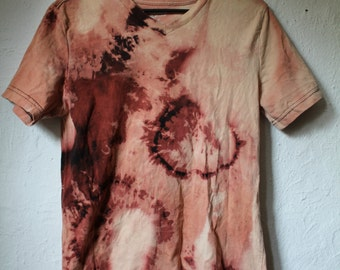 Bleached Distrest Black V-Neck T-Shirt