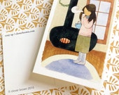 cozy up postcard set of 2