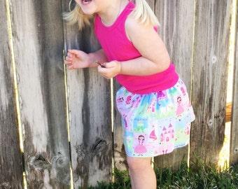 Princess skirt, infant/toddler skirt, handmade clothing