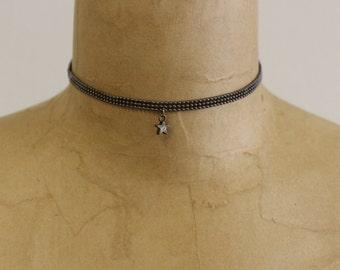 Handcraft vintage chain star choker