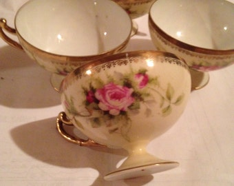 Porcelain Teacup and Saucer set.