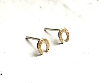 Lucky Horseshoe stud earrings