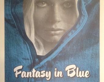 Fantasy In Blue Adult Movie Poster, Signed by Georgina Spelvin