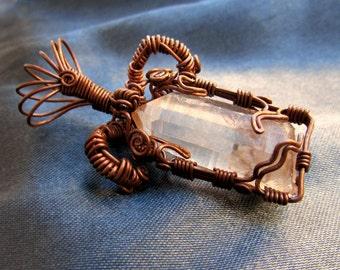 Quartz and Copper Wire Wrap