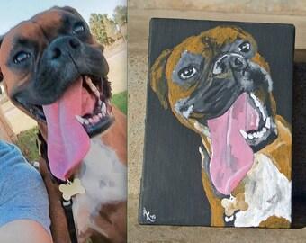Custom Pet Portrait - Dog Painting - Pooch Print