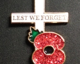 Remembrance Day World War Memory Red Poppy Flower Pin Badge Fashion Brooch