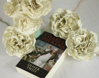 CUSTOM MADE Oliver Twist Bouquet Using A Second Hand Novel