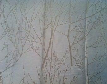 Larsen Transparent Fabric Floral branches Pattern Viscose Vanilia Upholstery Winter tree 1 Yard