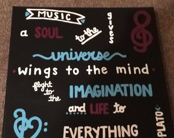 Music Canvas Quote Painting