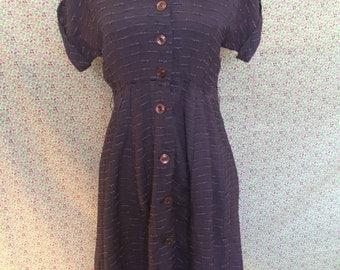 Purple Button-down 1950's Housedress/vintage
