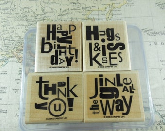 Stampin Up Alphabet Soup set of 4