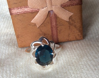 Blue fashion ring size 7 & 8