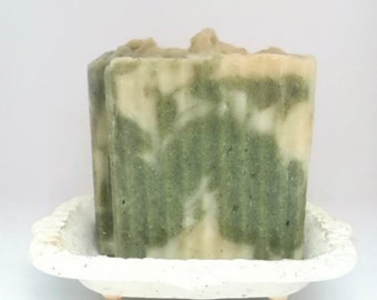 Green Fig Scented Soap Vegan Soap Natural Soap Hot Process soap Naturally Colored Soap