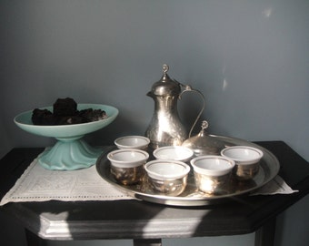 Unique Yugoslavian tea set