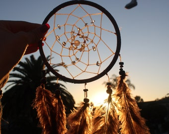 Crystal Spiral Brown Dream Catcher