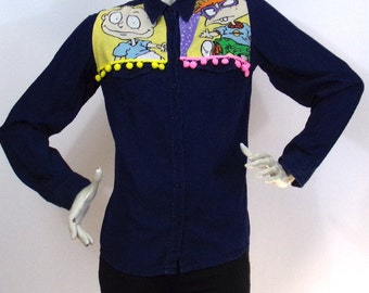 Dark blue short shirt Kustom Design AS Rugrats