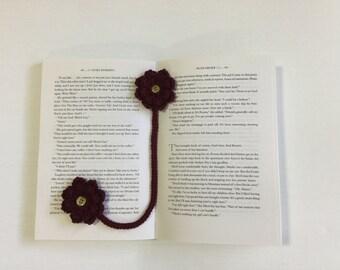 Bookmark, flower bookmark, crochet handmade bookmark, gift idea