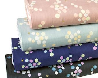 Japanese Kokka Double Gauze Cotton Fabric Honeycomb -Half yard
