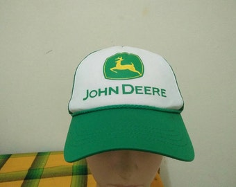 Rare Vintage JOHN DEERE Tractor Cap Hat Free size fit all