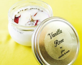 Vanilla Rose 6oz Soy Candle