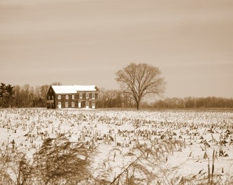 Sepia Toned Molly Pitcher Home
