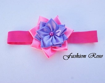 headbands for babies with kanzashi flower