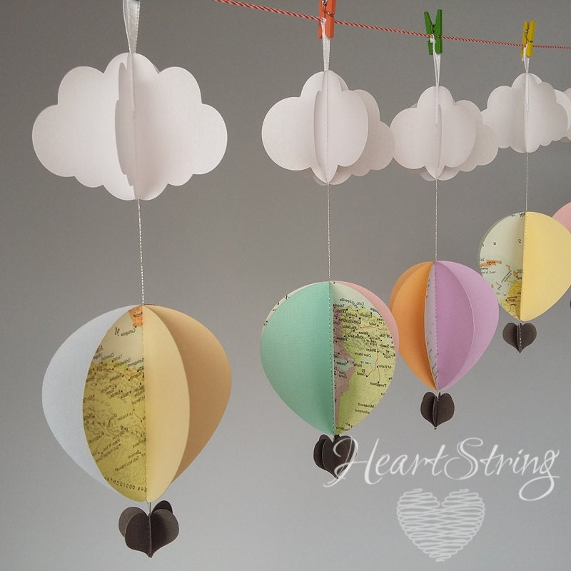 6 hot air balloon decoration oh the places you will go baby for Air balloon decoration