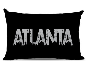 Atlanta Pillow - Atlanta Skyline Pillow - City Pillow - Urban Throw Pillow - Atlanta Gift - City of Atlanta