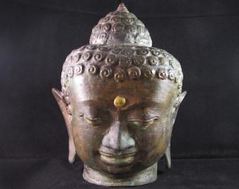 Old Bronze Buddha Head
