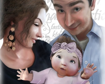 Family Character Portrait