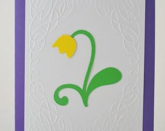 Yellow Tulip Card - Set of 8