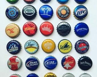 Set of 9 beer bottle cap magnets, Refrigerator magnets, Beer magnets, Beer bottle cap fridge magnets, Beer bottle cap magnets, Gifts for dad
