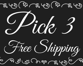 Pick 3, Free Shipping - Soap - Soap Bar - Bar Soap - Handmade - Handmade Soap - Vegan