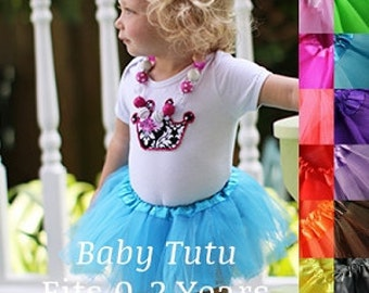 Baby tutu, newborn tutu, tutu sizes newborn- 2t any cor