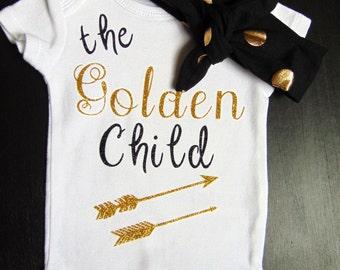 Baby Onesie, Baby Girl Clothes, Baby Girl Clothing, Baby Girl Onesie, Baby Boy Onesie, Infant Onesie, Baby Boy, Golden Child, Baby Gift