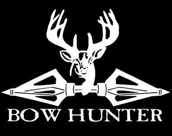 Vinyl Decal Bow hunter Broadheads Deer hunt truck country bumper sticker car truck laptop