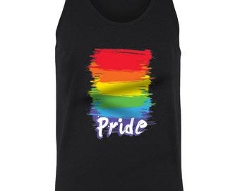 Pride Flag Gay Awareness Colors Neon LGBT Community Juniors Women Tank Top SF_0029