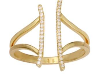 Diamond Double Bar Ring