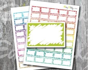 Sales! Half box Scribble , Printable Planner, Printable Sticker, Erin Condren Planner Sticker