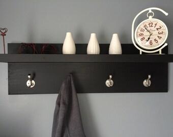 Coat holder with shelf