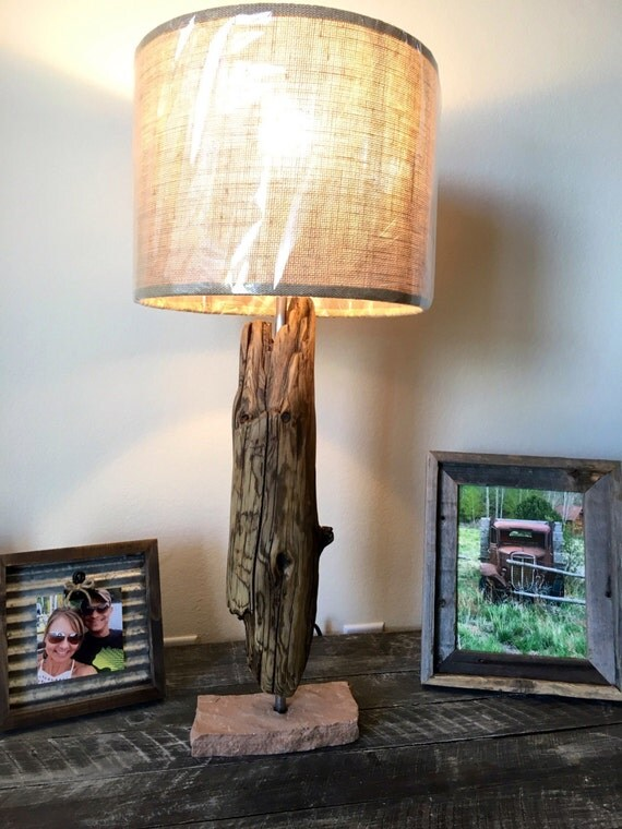Rustic Lamp Vintage Lamp Farmhouse Decor Country Decor Coastal