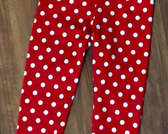 Valentine Red and White Polka Dot Leggings
