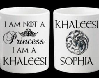 Personalised Game of Thrones Khaleesi Princess Daenerys Targaryen Mum Mummy Sister Daughter Birthday Christmas Gift Present